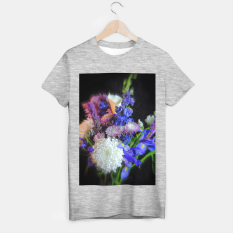 Miniatur Blue White Purple Floral T-shirt regular, Live Heroes