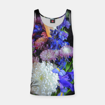 Thumbnail image of Blue White Purple Floral Tank Top, Live Heroes