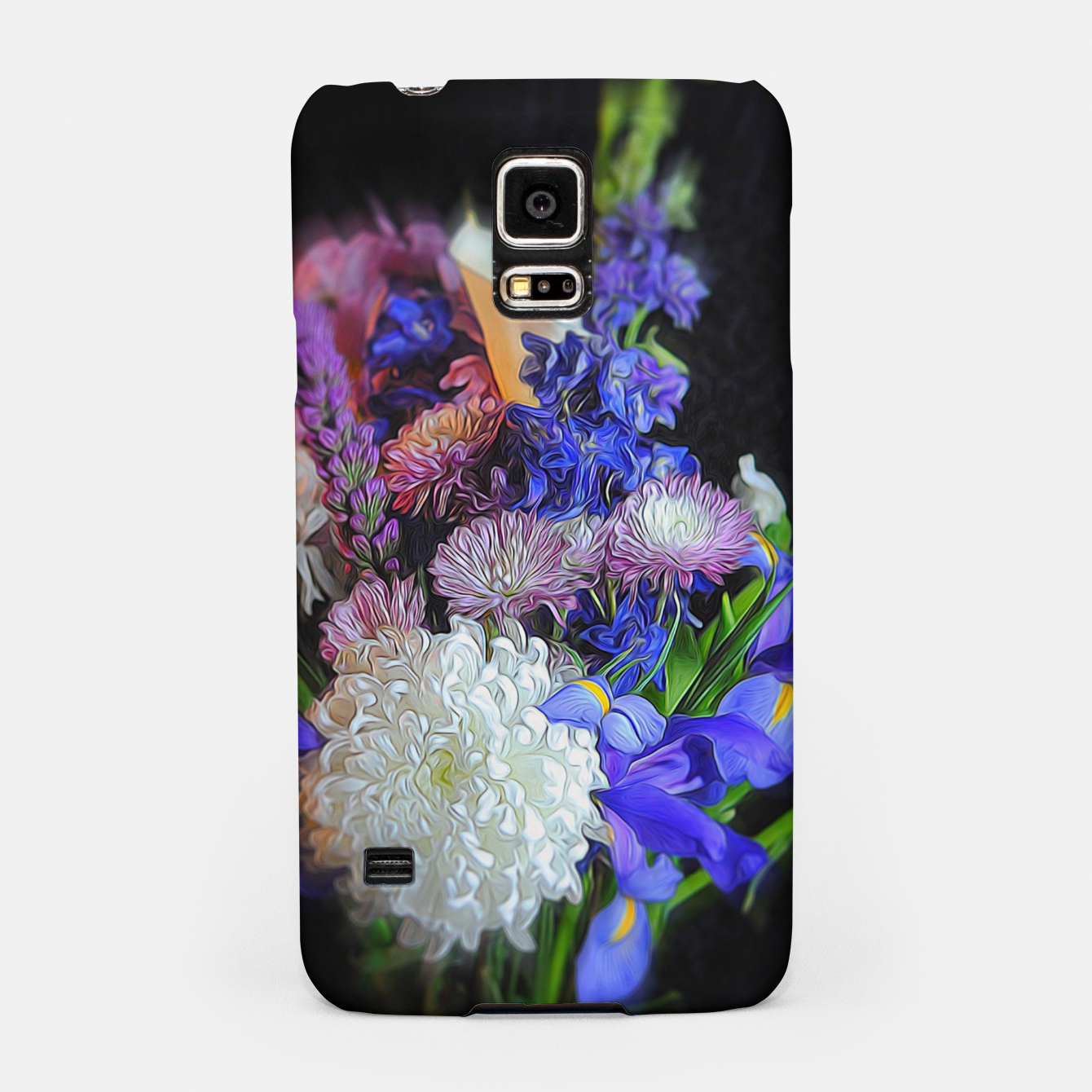 Image of Blue White Purple Floral Samsung Case - Live Heroes