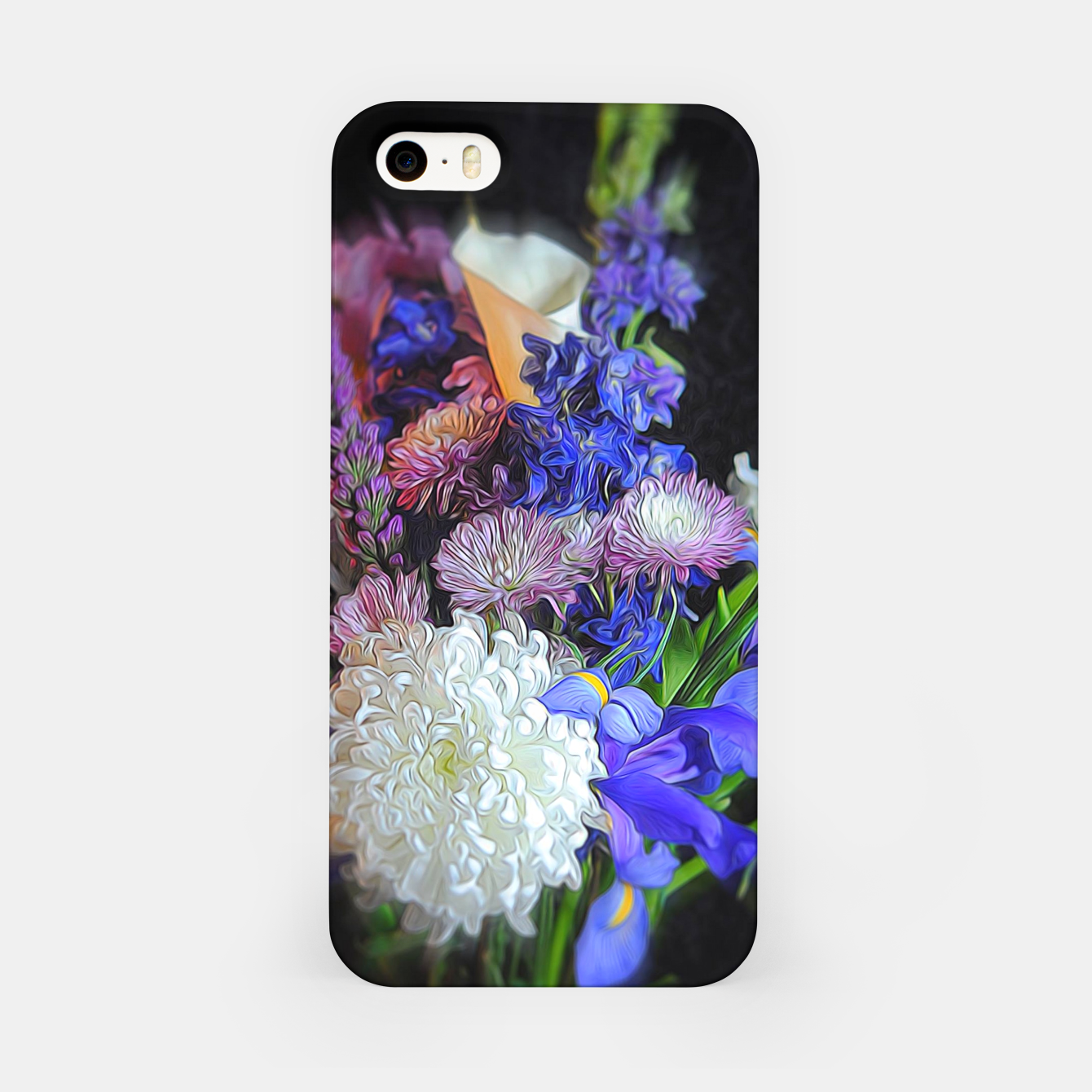 Image of Blue White Purple Floral iPhone Case - Live Heroes