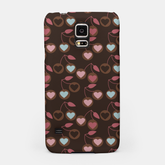 Thumbnail image of heart cherries brown Samsung Case, Live Heroes