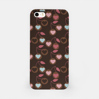 Miniaturka heart cherries brown iPhone Case, Live Heroes