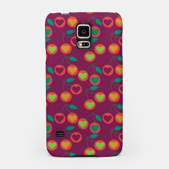 Thumbnail image of heart cherries magenta Samsung Case, Live Heroes