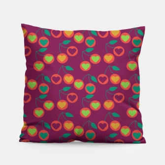 Miniature de image de heart cherries magenta Pillow, Live Heroes