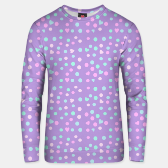 Thumbnail image of heart drops Unisex sweater, Live Heroes