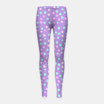 Thumbnail image of heart drops Girl's leggings, Live Heroes