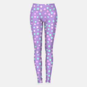 Thumbnail image of heart drops Leggings, Live Heroes