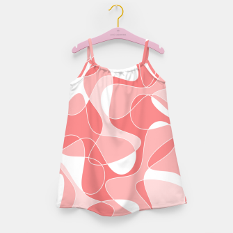 Miniatur Abstract pattern - pink. Girl's dress, Live Heroes