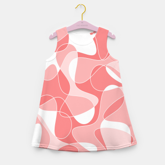 Thumbnail image of Abstract pattern - pink. Girl's summer dress, Live Heroes