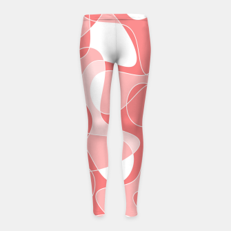 Thumbnail image of Abstract pattern - pink. Girl's leggings, Live Heroes