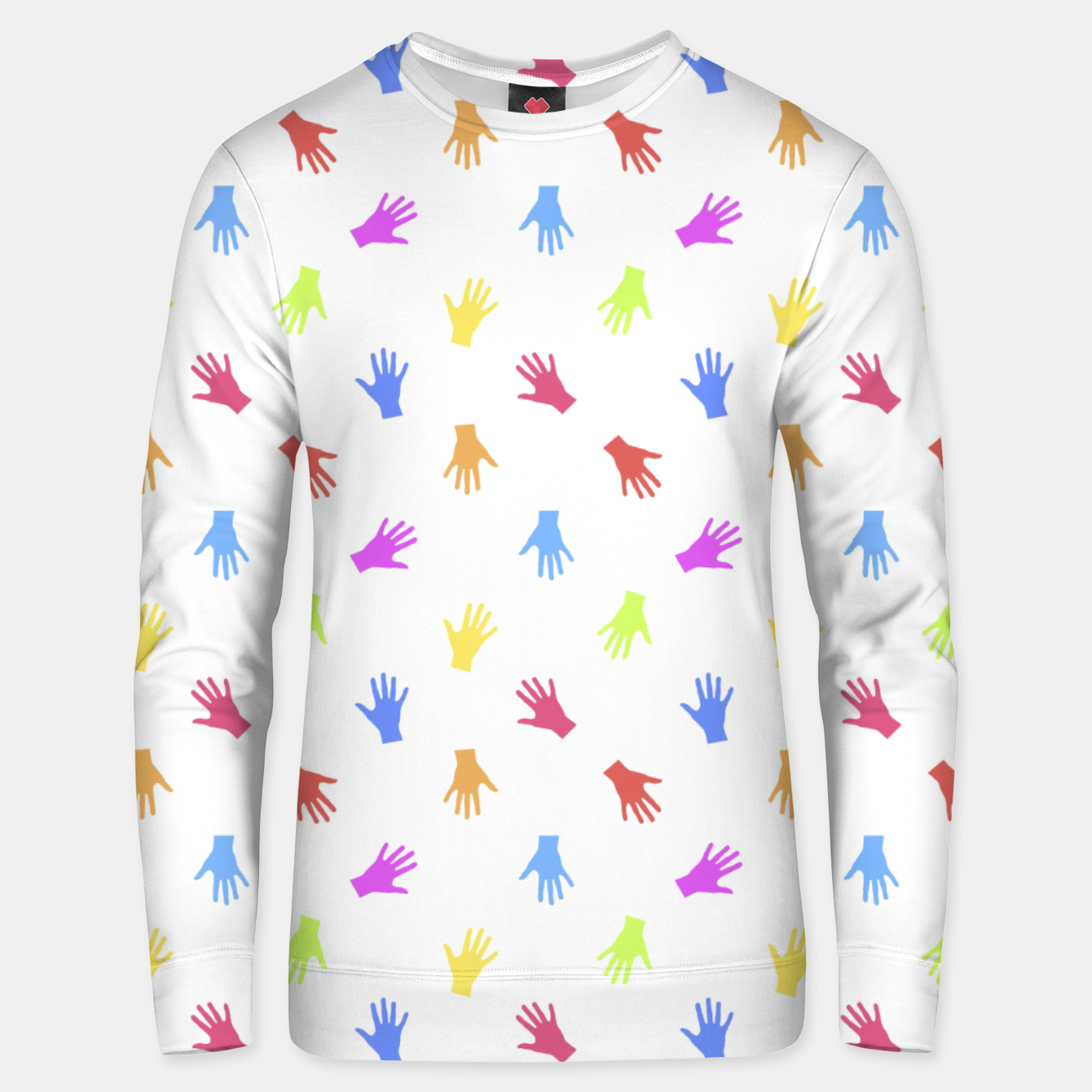 Zdjęcie Multicolored Hands Silhouette Motif Design Unisex sweater - Live Heroes