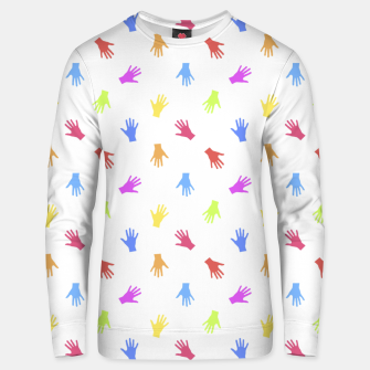 Thumbnail image of Multicolored Hands Silhouette Motif Design Unisex sweater, Live Heroes