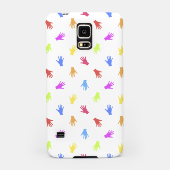 Thumbnail image of Multicolored Hands Silhouette Motif Design Samsung Case, Live Heroes