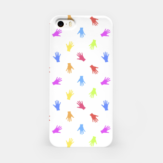 Thumbnail image of Multicolored Hands Silhouette Motif Design iPhone Case, Live Heroes