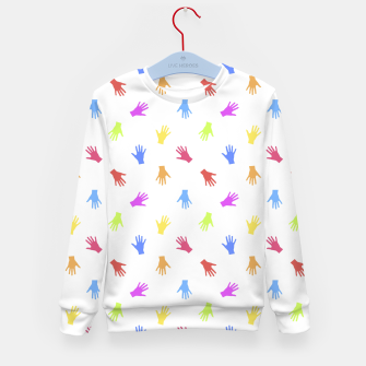 Thumbnail image of Multicolored Hands Silhouette Motif Design Kid's sweater, Live Heroes
