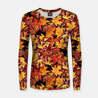 Thumbnail image of Fall Leaves Pattern Women sweater, Live Heroes