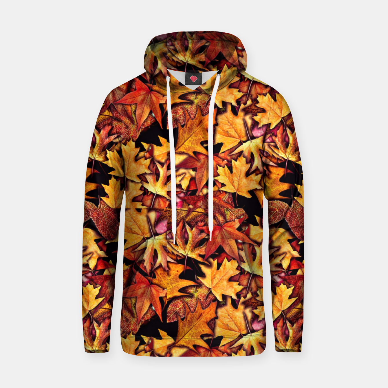 Image of Fall Leaves Pattern Hoodie - Live Heroes