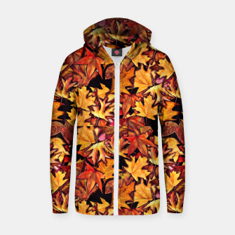 Miniature de image de Fall Leaves Pattern Zip up hoodie, Live Heroes