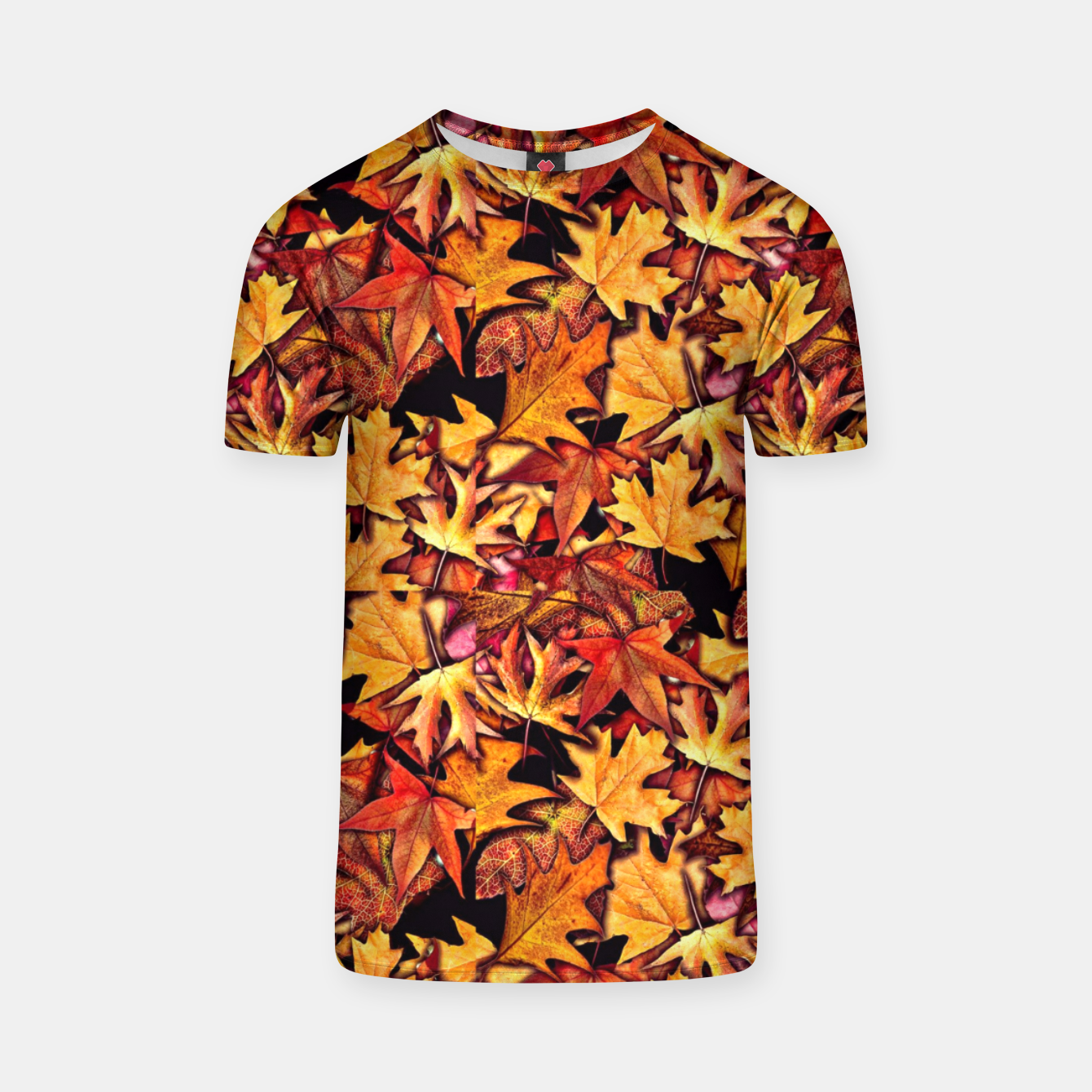 Image of Fall Leaves Pattern T-shirt - Live Heroes