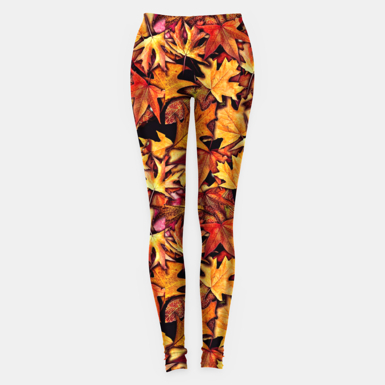 Image of Fall Leaves Pattern Leggings - Live Heroes
