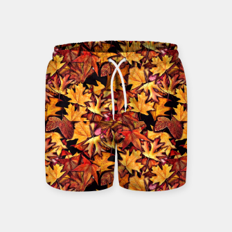Thumbnail image of Fall Leaves Pattern Swim Shorts, Live Heroes