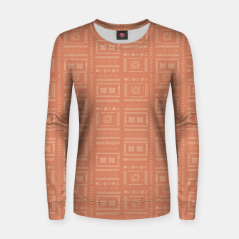 Thumbnail image of Bohemian Oriental Traditional African Moroccan Style Pattern Women sweater, Live Heroes