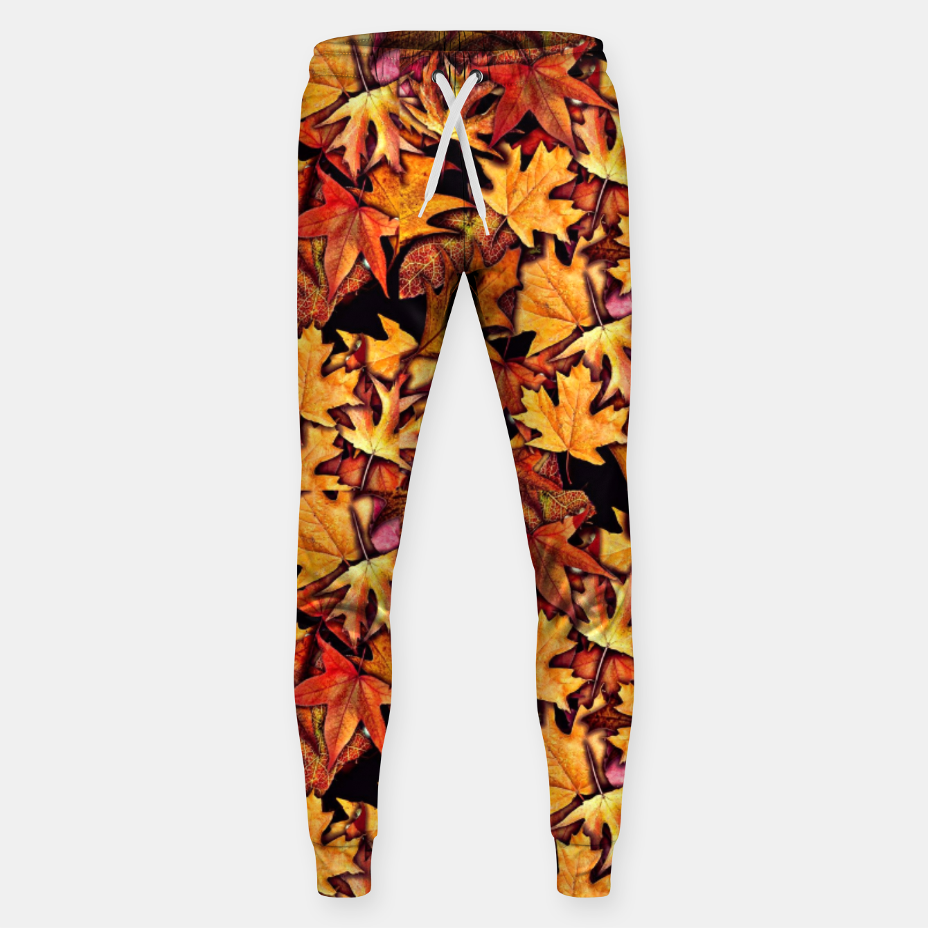Image of Fall Leaves Pattern Sweatpants - Live Heroes