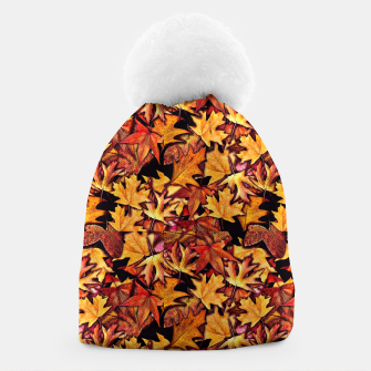 Thumbnail image of Fall Leaves Pattern Beanie, Live Heroes