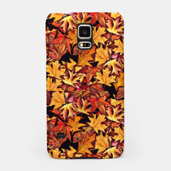 Fall Leaves Pattern Samsung Case thumbnail image