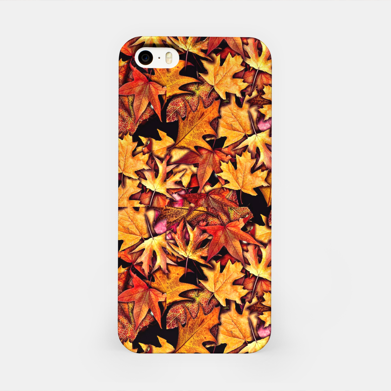 Image of Fall Leaves Pattern iPhone Case - Live Heroes