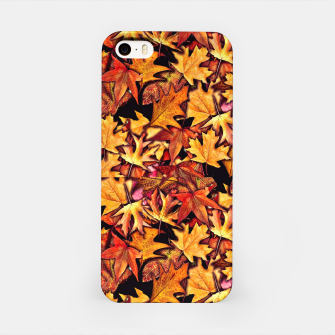 Fall Leaves Pattern iPhone Case thumbnail image