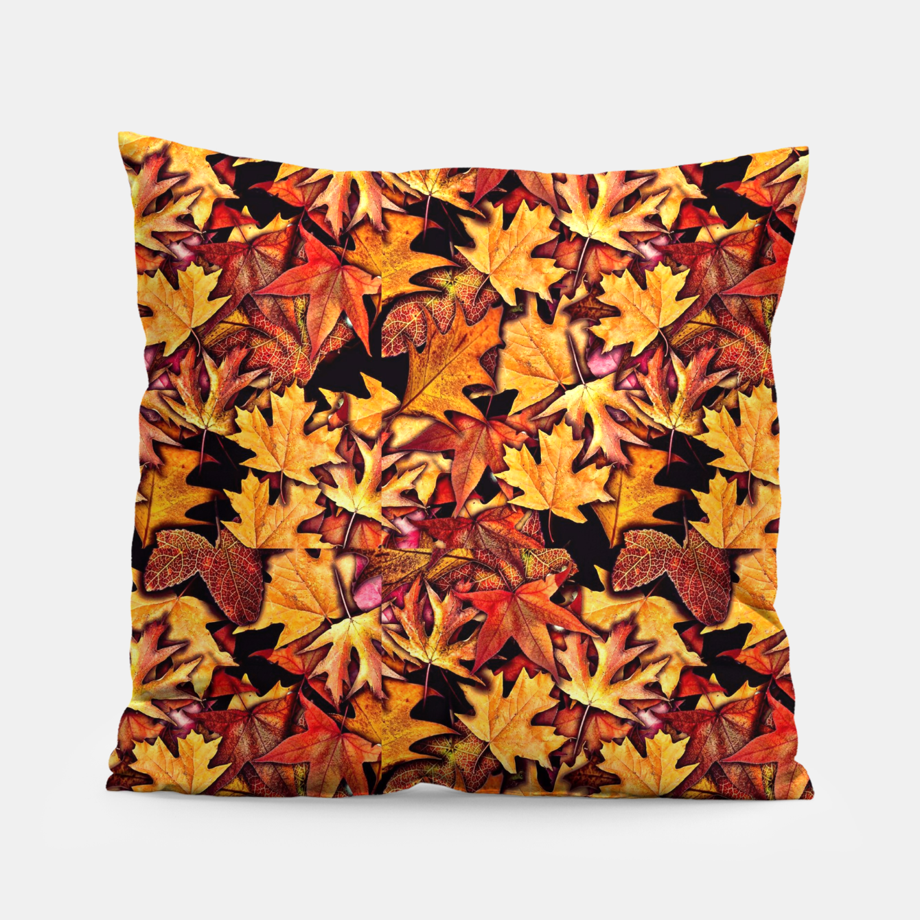 Image of Fall Leaves Pattern Pillow - Live Heroes