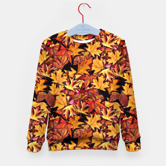 Thumbnail image of Fall Leaves Pattern Kid's sweater, Live Heroes