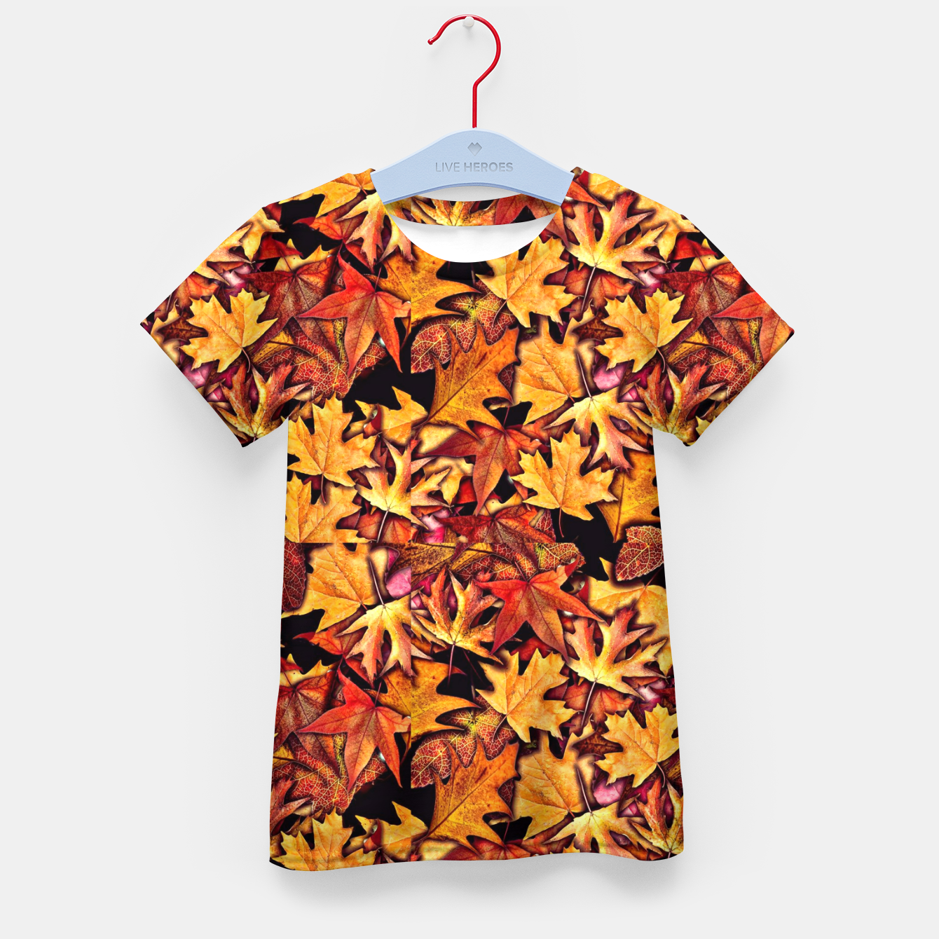 Image of Fall Leaves Pattern Kid's t-shirt - Live Heroes