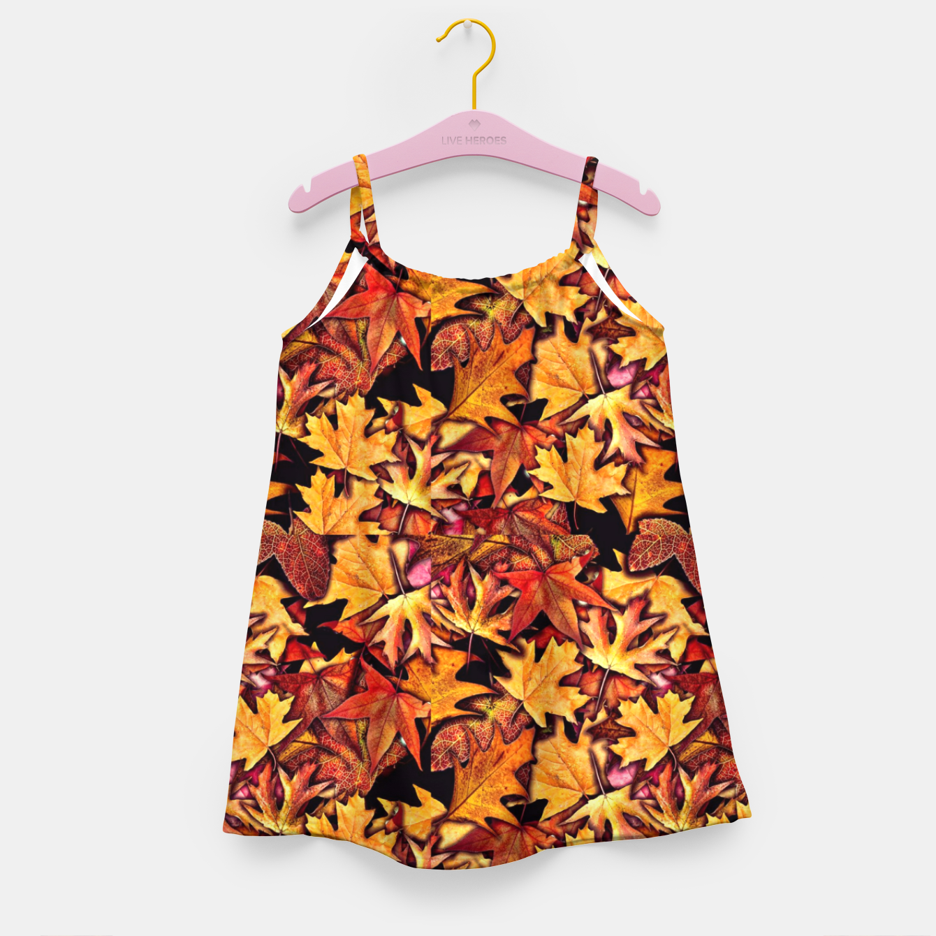 Image of Fall Leaves Pattern Girl's dress - Live Heroes