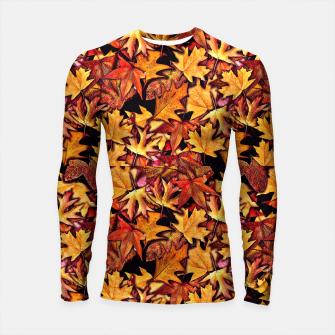 Thumbnail image of Fall Leaves Pattern Longsleeve rashguard , Live Heroes