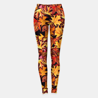 Thumbnail image of Fall Leaves Pattern Leggings, Live Heroes