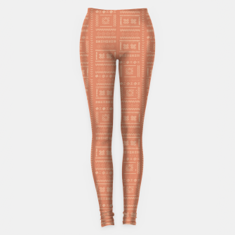 Thumbnail image of Bohemian Oriental Traditional African Moroccan Style Pattern Leggings, Live Heroes