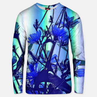 Blue Wildflowers With Backlight Unisex sweater thumbnail image