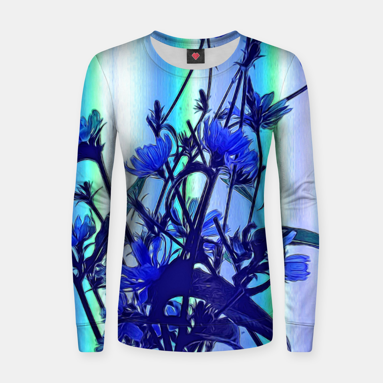 Image of Blue Wildflowers With Backlight Women sweater - Live Heroes