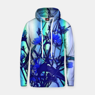 Blue Wildflowers With Backlight Hoodie thumbnail image