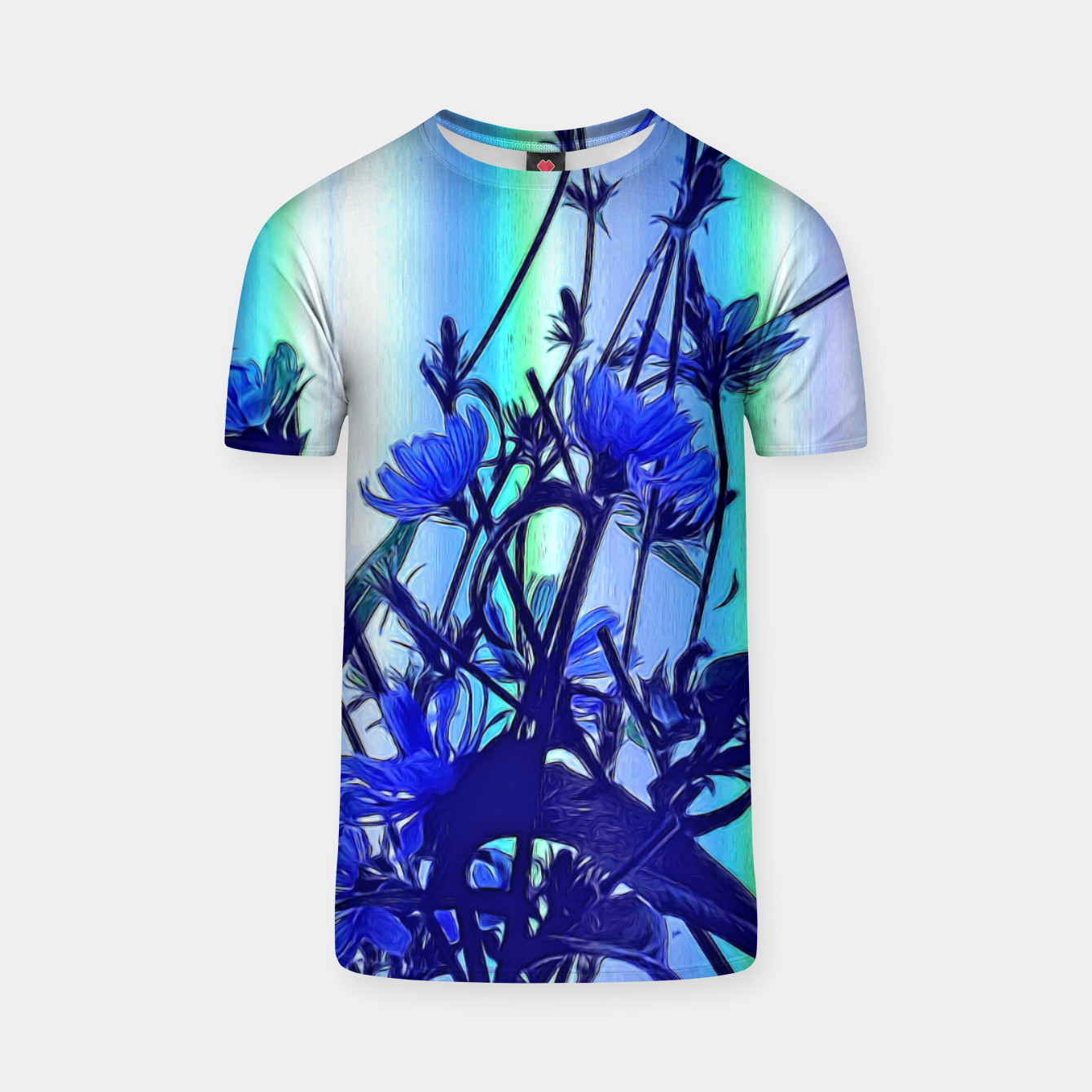 Image of Blue Wildflowers With Backlight T-shirt - Live Heroes