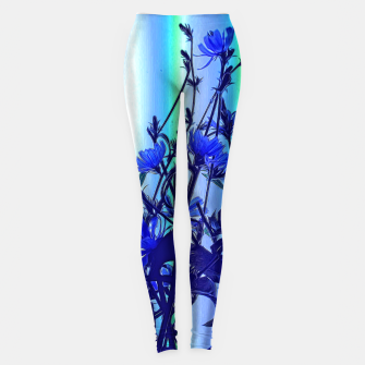 Blue Wildflowers With Backlight Leggings thumbnail image