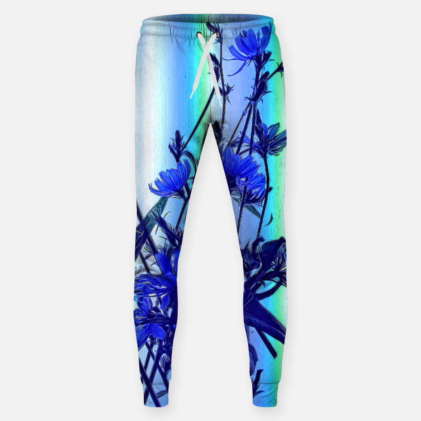 Image of Blue Wildflowers With Backlight Sweatpants - Live Heroes