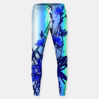 Blue Wildflowers With Backlight Sweatpants thumbnail image