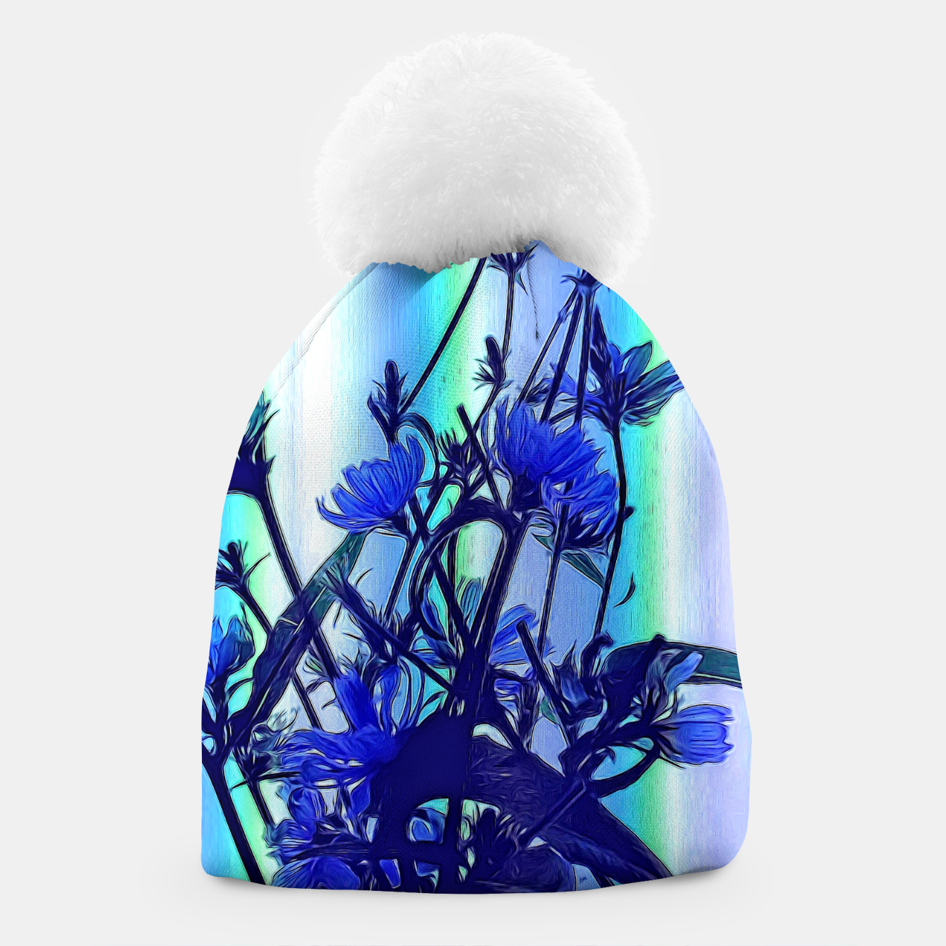 Image of Blue Wildflowers With Backlight Beanie - Live Heroes