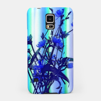 Blue Wildflowers With Backlight Samsung Case thumbnail image