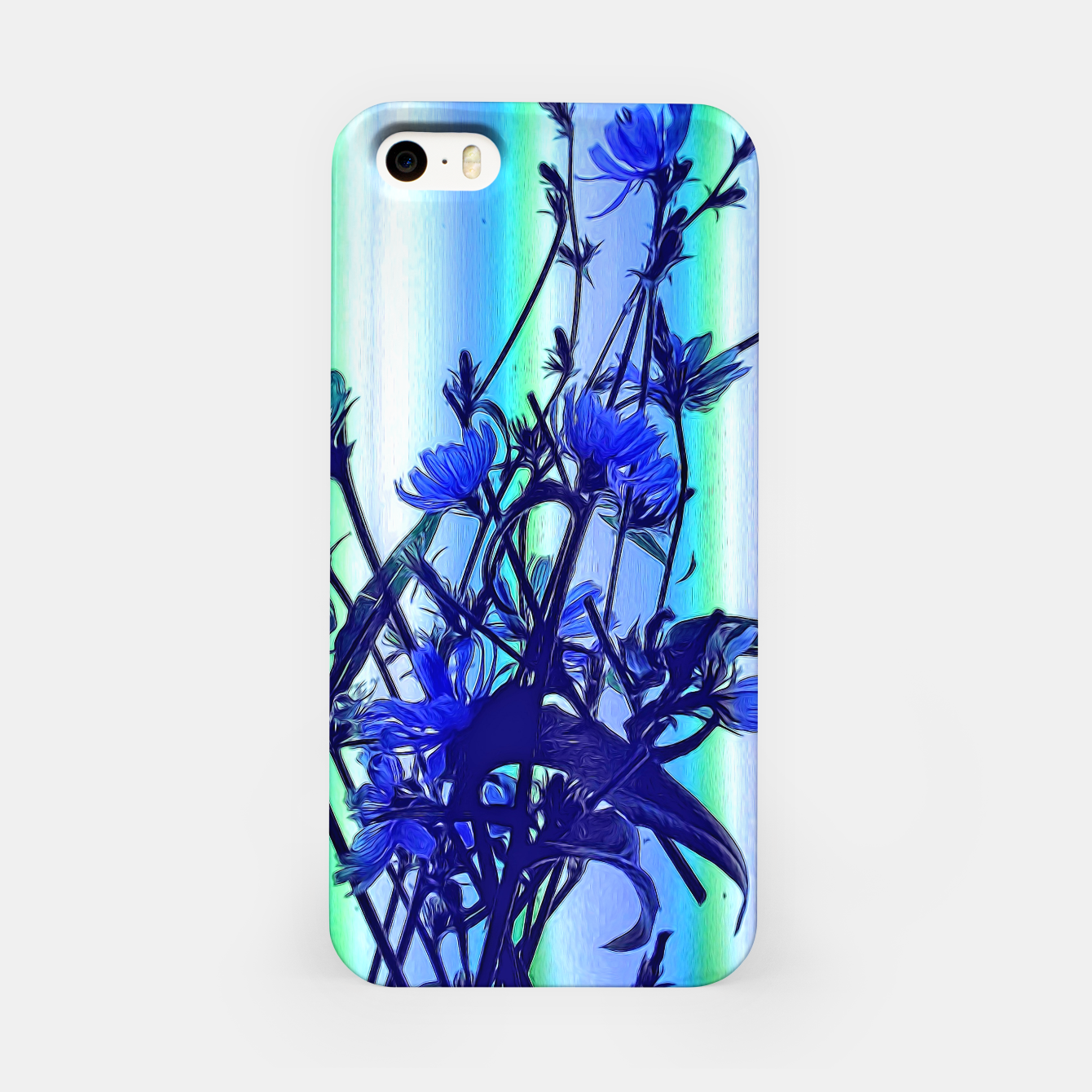 Image of Blue Wildflowers With Backlight iPhone Case - Live Heroes