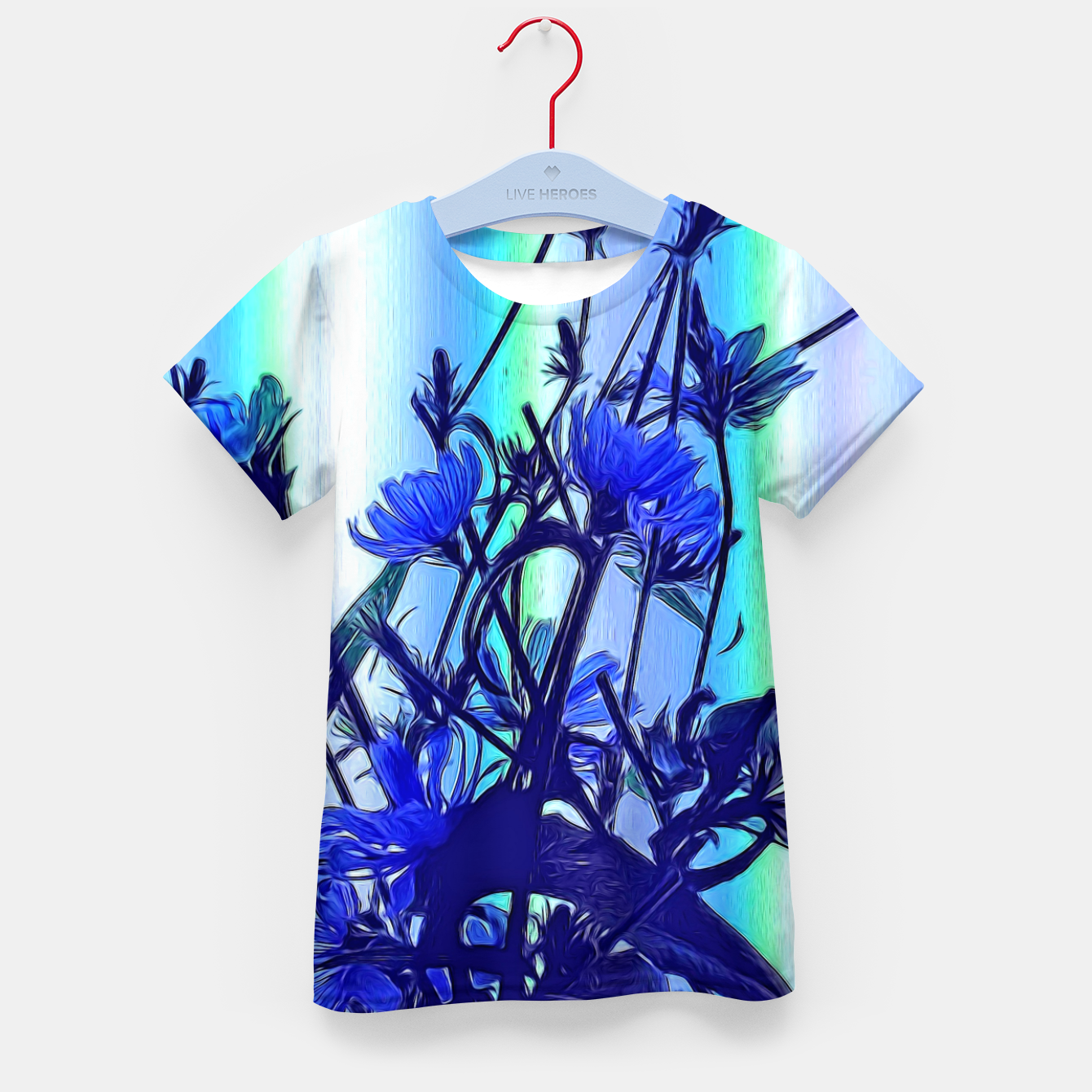 Image of Blue Wildflowers With Backlight Kid's t-shirt - Live Heroes