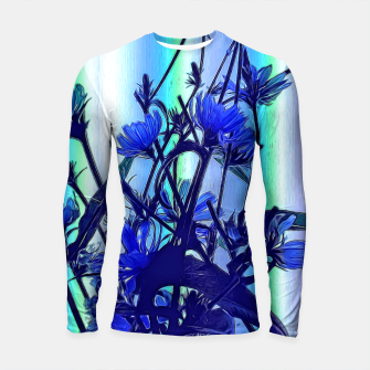 Blue Wildflowers With Backlight Longsleeve rashguard  thumbnail image